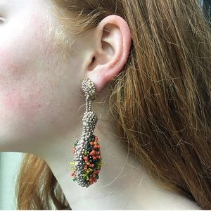Vintage 50s Dangly Beaded Earrings-Emma Collection